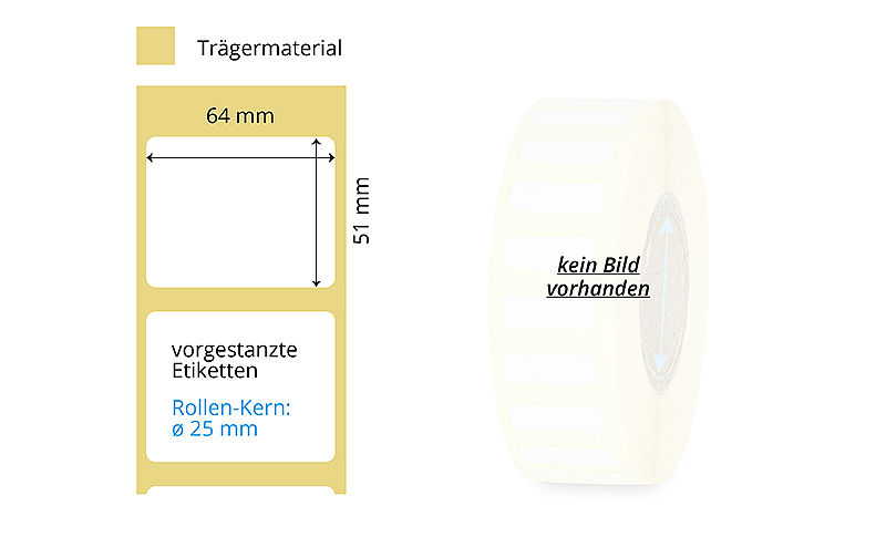 Thermotransfer-Etikettenrolle