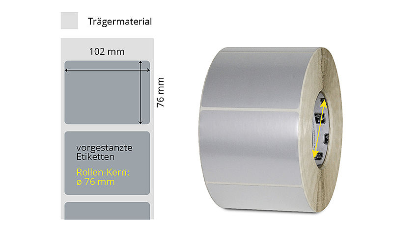 """Tiefkühletiketten Rolle verklebbar 100x150 mm 10 °C 1000 Papieretiketten 1/"""""""
