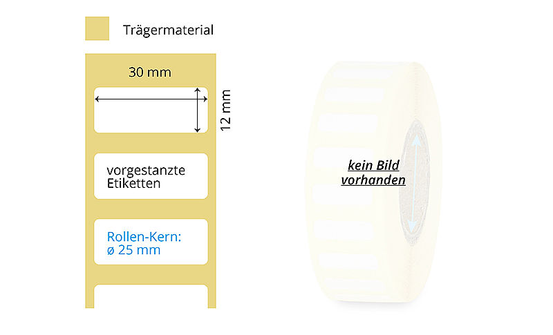 Papieretiketten Rolle Thermotransfer