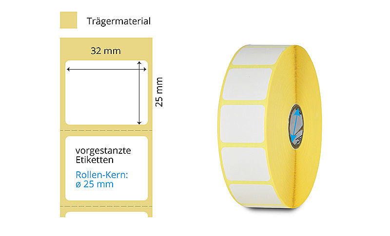 Thermotransfer Etikettenrolle Zebra