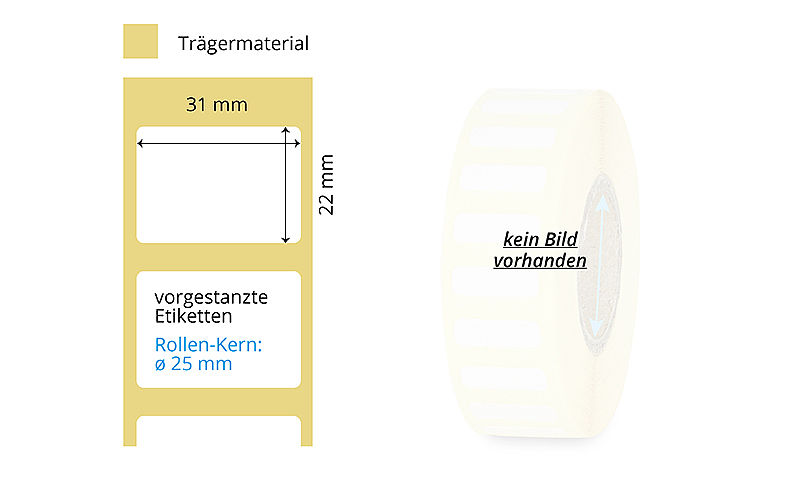 Thermotransfer Etikettenrolle Papier