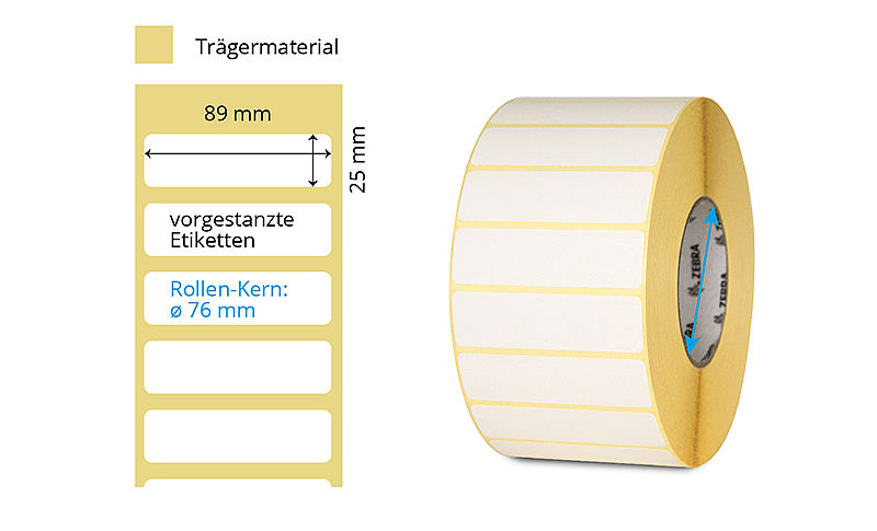Thermotransfer Papier-Etikettenrolle