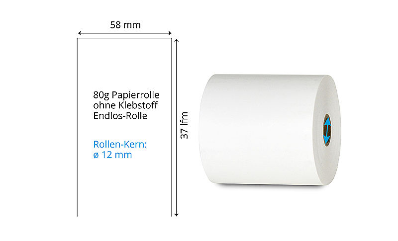 endlos Thermo Papierrolle