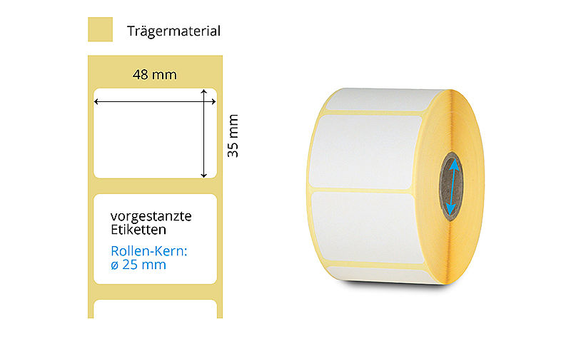 Thermotransfer Etiketten auf Rollen