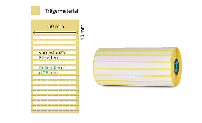 Papier Etiketten-Rolle Thermotransfer