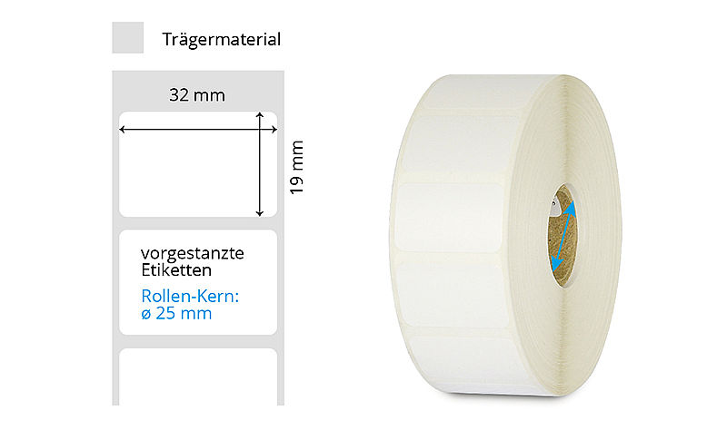 Thermotransfer Etiketten 32 x 19 mm