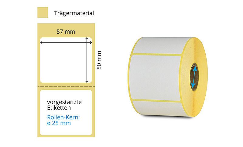 Papier Rollenetikette Thermotransfer
